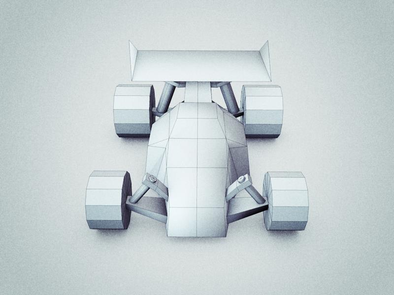 Low Poly Toy Buggy