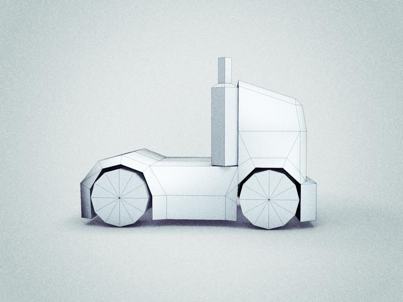 Low Poly Heavy Truck
