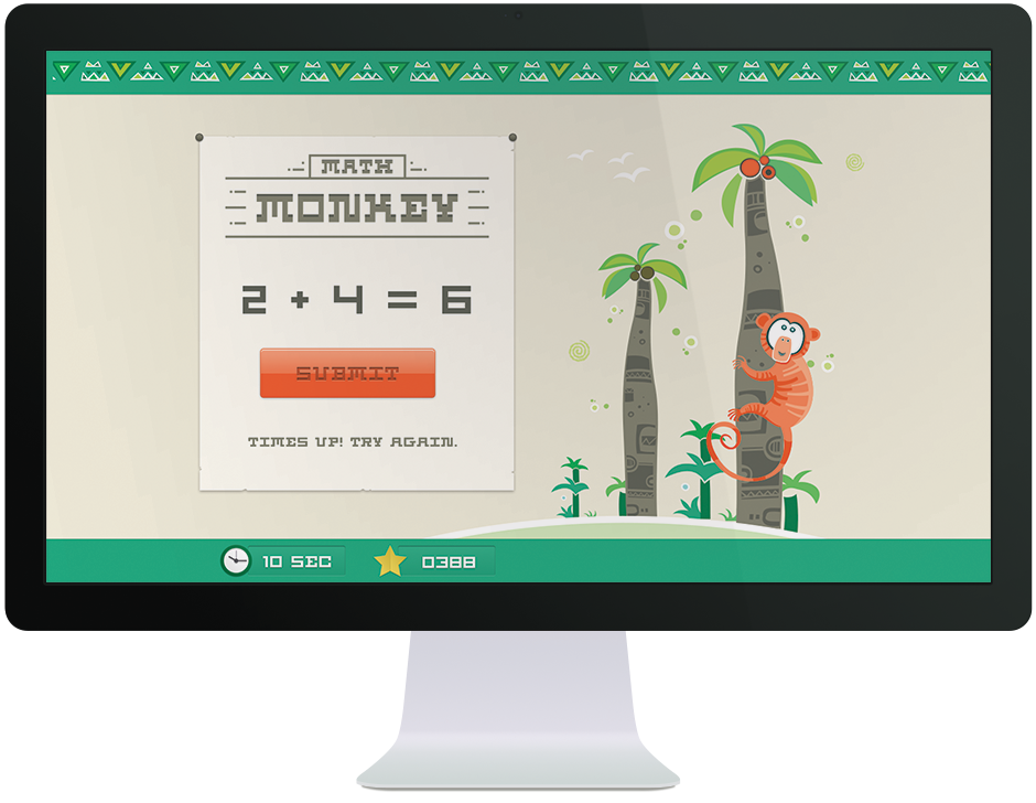 Math Monkey Web Game