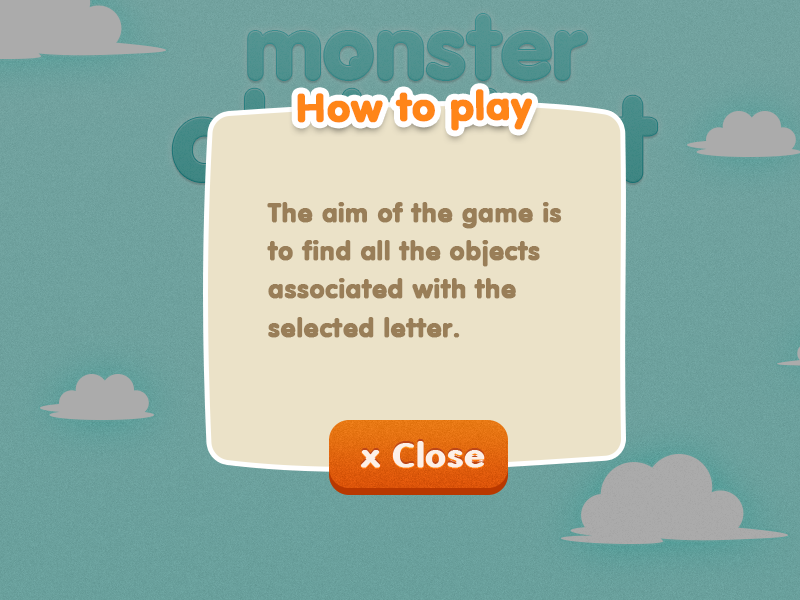 Monster Alphabet Game Design