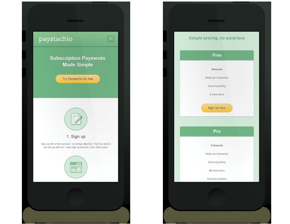 Paystachio Responsive Web Design